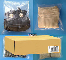 """Clear Poly Bags 11x12"""" Plastic LDPE Packing Baggies T-Shirt Small Medium Large"""