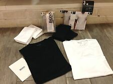 2014 HUGO BOSS Mens 3 T-Shirt Classic - 3 PACK! With BOSS Logo - New With Tags