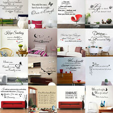DIY Removable Art Vinyl Quote Words Wall Sticker Decal Mural Home Decor For Kids