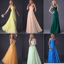 Formal Long Evening Party Bridesmaid Dress Cocktail Prom Ballgown Dress 6 Styles