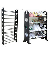 BRAND NEW SHOE RACK BLACK 4 / 10 TIER / ORGANIZER FOR 12 / 30 PAIR SHOES
