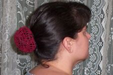 Hand Crocheted Cotton Hair Bun Cover -Several colors available