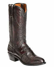 LUCCHESE Since 1883 M2901.J4 MENS BLACK CHERRY LIZARD COWBOY BOOTS