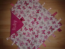 PERSONALISED BUTTERFLY PRINT BABY TAGGY AVAILABLE IN LARGE OR SMALL