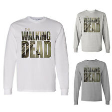 Daryl Dixon Zombies AMC Apocoalypse Gift  Walking Dead White Long Sleeve Shirt