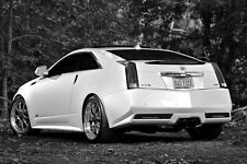 Cadillac White CTS-V Sport Coupe CTSV HD Poster B&W Print multiple sizes