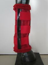 Horse Fly Mesh Boots Set of 4 Red & a Black Australian Made Summer Protection