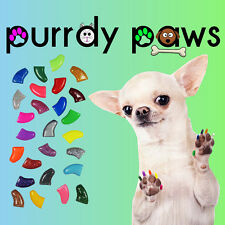 Soft Nail Caps For Dog Claws * Purrdy Paws * USA SELLER * 18 Colors and 6 Sizes