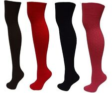 Women's Cable Knit Winter Warm Over The Knee Thigh High Socks 9-11