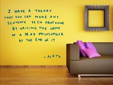 Banksy New Graffiti 2013 - I have a theory Decal & Wall Sticker. Many colours.