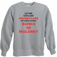 OBAMACARE FUNNY POLITICAL POLITICS ANTI OBAMA HEALTH CARE CREWNECK SWEATSHIRT
