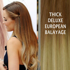 THICK DELUX 10/613 BALAYAGE OMBRE CLIP IN REMY HUMAN HAIR EXTENSIONS Brown Blond