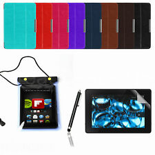 THIN SMART LEATHER CASE COVER FOR AMAZON KINDLE FIRE HDX 7 WATERPROOF PEN GUARD