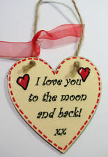 Hand Made Wooden Heart Plaques Choice Of Verses Perfect Gift Ideas FREE P&P