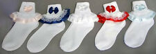 New Wholesale Lot 1 Dz Girls Fancy Socks With Color Lace  ( # E00035)