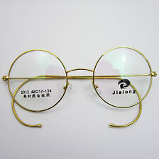 48mm Size Antique Vintage Round Gold Silver Wire Rim Eyeglass Frames Spectacles
