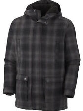 COLUMBIA MENS LOST CABIN DUFFLE WOOL JACKER INSULATED AND WARM NWT PLAID