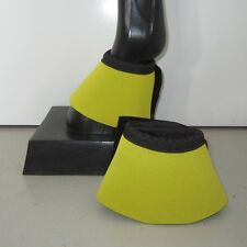 Horse Bell or Overreach Boots Yellow & Black  AUSTRALIAN MADE Protection