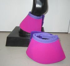 Horse Bell or Overreach Boots Pink Purple & Purple AUSTRALIAN MADE Protection