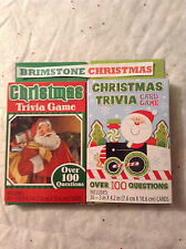 Christmas Trivia Card Game Santa Claus Holiday Family Game Party Gathering