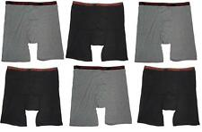 6 Men's Big & Tall USA Classic Design Boxer Briefs Underwear Shorts 4XL 5XL 6XL