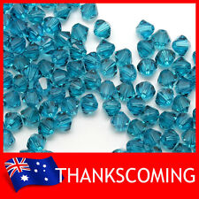 Blue Zircon (229) Genuine SWAROVSKI 5328 Crystal Beads Bicone 4mm * 50/100/200 *