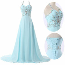 2014 New Long Chiffon Bridesmaid Evening Formal Party Ball Gown Prom Full Dress