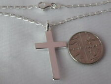 Solid 925 Sterling Silver Cross / Chain / Necklace / Pendant Mens Ladies