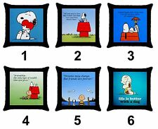 Snoopy Dog Charlie Brown Peanuts Comic Cartoon Cotton Throw Pillow Case Cover