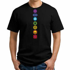 Chakra T-Shirt or Tank. Ladies. Mens. Black or White. Mystical. Wicca. New Age.