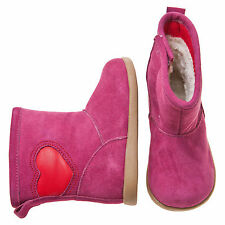 Little Blue Lamb Pink Heart Leather Shoes Boots Toddler Girl Boy 6 to 10 New Box