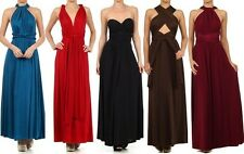 CONVERTIBLE MAXI DRESS INFINITY WRAP Multi Way Long Wedding Bridesmaid S M L