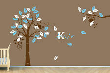 Personalized Name Monkey Tree Wall Art Stickers Kids Nursery Vinyl Decals Mural