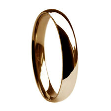 3mm 9ct HM 375 Rose Red Gold Heavy 2.8g Court Comfort Wedding Ring Band 4-8 1/4