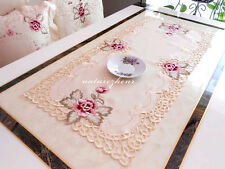HBZ7 Fabric Embroidery Hollow table cloth runner Lace dining chair cushion cover