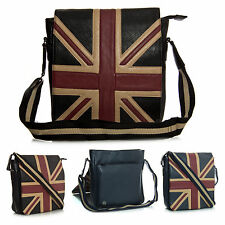 Unisex Union Jack GB Souvenir Gift Travel Faux Leather Mesenger Bag - Small