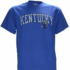 University of Kentucky UK DISTRESSED ARCH  on BLUE Shirt KY Wildcats Basketball