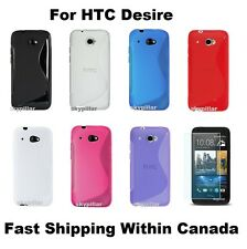 "4.5"" HTC Desire 601 TPU Gel S Shape Soft Silicone Rubber Case Cover + Protector"