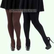 3 PAIRS | PLUS SIZE OPAQUE TIGHTS | 2x 3x thick winter knit warm 20 22 24 26