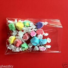 100 SUPER CLEAR POLY BAKERY CELLO CANDY BAG CELLOPHANE FLAT POLY BAGS 1.2Mil