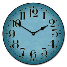 "Large wall clock, Houston Blue Clock, 12""- 48"" Whisper Quiet, Non-Ticking"