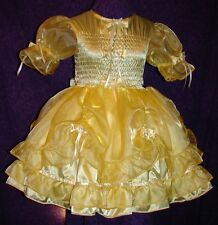 Charming Satin Organza Yellow Adult Baby Sissy Aunt D