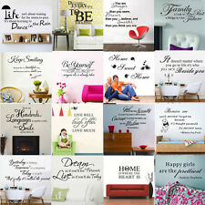 Hot Sale! DIY Art Vinyl Quote Removable Wall Sticker Decal Mural Room Home Decor