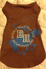"Beverly Hills Polo Club Dog Shirt - XS 6-8"" - Brown & Blue - NWT"
