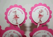 PERSONALIZED Angelina Ballerina Party Cupcake Party Toppers - Custom