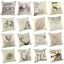 "Vintage Home Decor Cushion Cover Throw Pillow Case 18"" Sofa Linen Insert Inner"