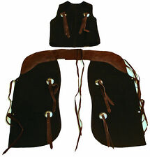 Child Western Chap and Vest Set By Congress Leather Made in the USA