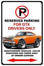 1969 Plymouth GTX Muscle Car No Parking Sign NEW