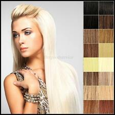 """7PCS 18"""" CLIP IN REMY REAL HUMAN HAIR EXTENSIONS STRAIGHT FULL HEAD 15COLORS US"""