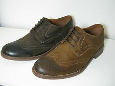 Mens Clarks Fincy Limit Brown or Tobacco Suede Smart Brogue Style Shoes G Width